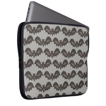 Halloween Themed Flying Bats Black Gray Happy Halloween Print Computer Sleeve