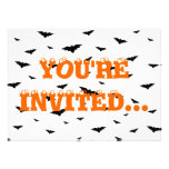 Flying Bats - Halloween Personalized Invite