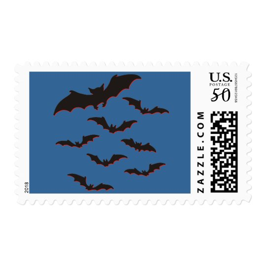 Flying bats postage
