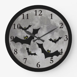 Flying Bats Wall Clock