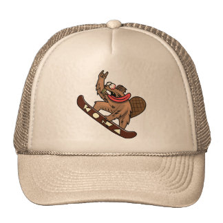 flying beaver trucker hat
