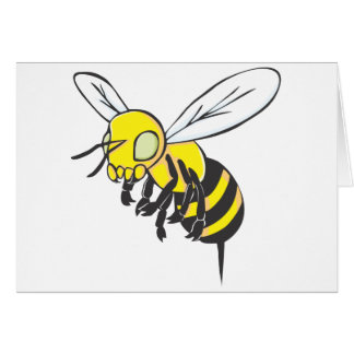 Flying Bee Insect Card