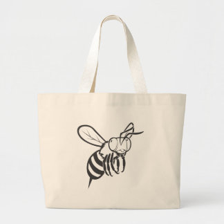 Flying Bee Insect Large Tote Bag