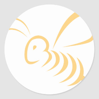 Flying Bee Insect Logo Classic Round Sticker