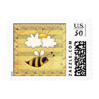 Flying Bee US Postage Stamps