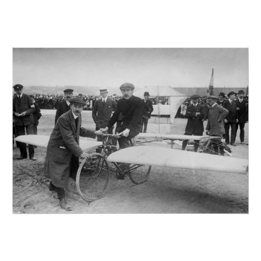 Flying Bicycle Contest: 1912 Print