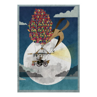 Flying Bicycle Poster