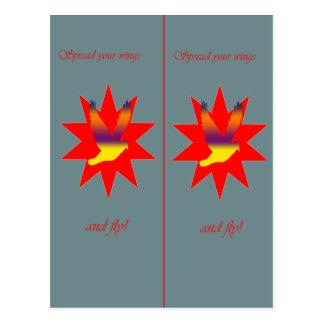 Flying Bird bookmark Postcard