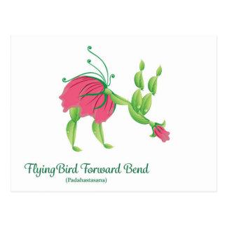 (Flying Bird Forward Bend) Postcard