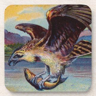 Flying Bird Of Prey With Fish Coaster