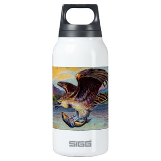 Flying Bird Of Prey With Fish Insulated Water Bottle