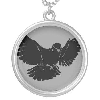 Flying Bird Round Pendant Necklace