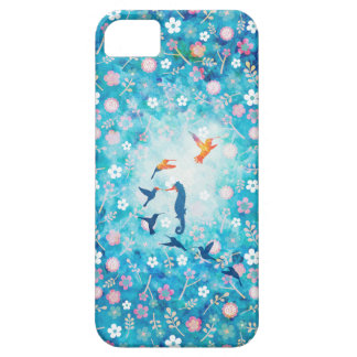 Flying bird,sea horse and flower pattern iPhone SE/5/5s case
