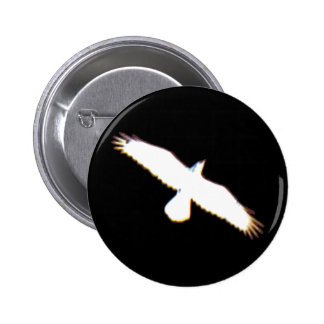 Flying Bird Silhouette Button