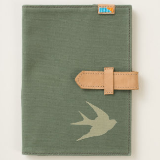 Flying Bird Silhouette Canvas Journal