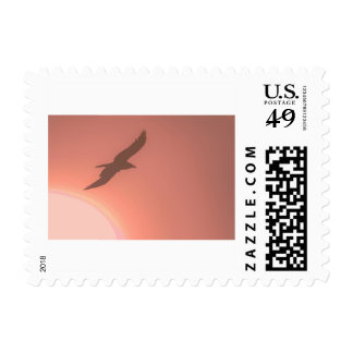 Flying Bird Silhouette Postage
