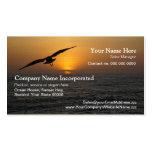 Flying bird sunset business card