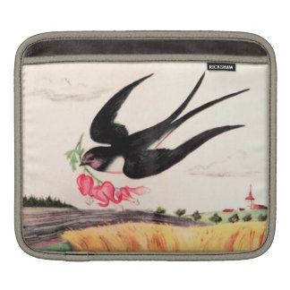 Flying Bird With Flowers Sleeve For iPads