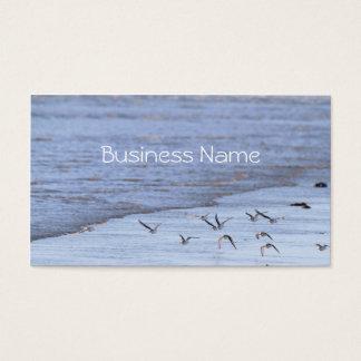 Flying Birds along the Shoreline  Business Card
