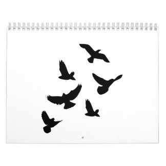 Flying birds calendar