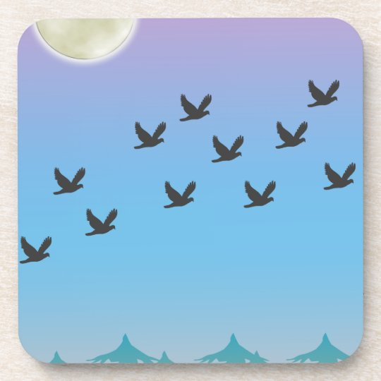 Flying Birds Cork Coaster