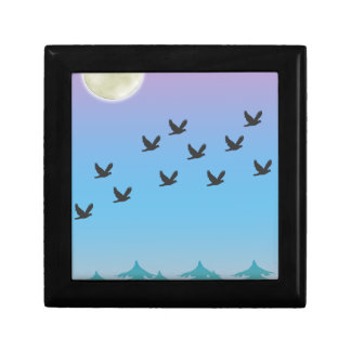 Flying Birds giftbox Trinket Boxes