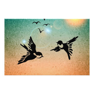 Flying Birds Photo Print