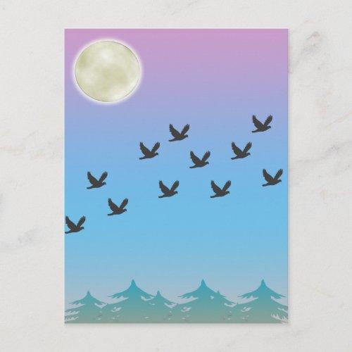 Flying Birds Postcard