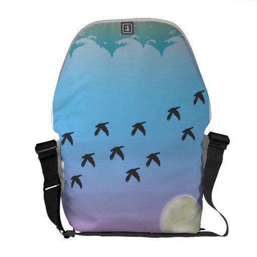 Flying Birds Rickshaw Messenger Bag