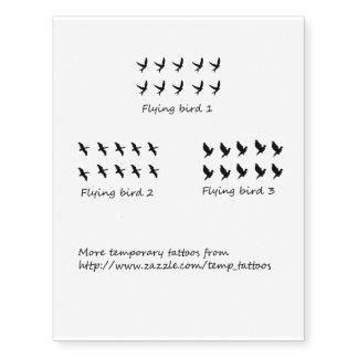 Flying birds temporary tattoos