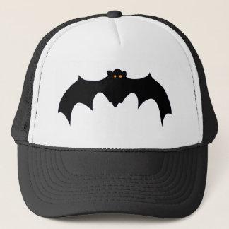 Flying Black Bat with Orange Eyes Trucker Hat