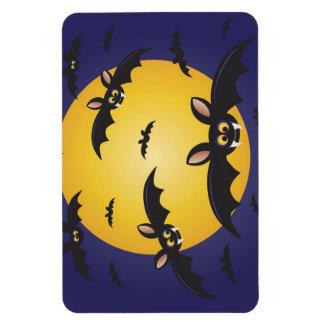 Flying Black Bats Big Moon Premium Flexi Magnet