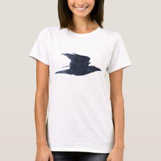 Flying Black Crow Art Birdlover's T-Shirt