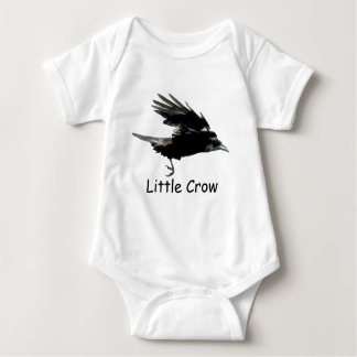Flying Black CROW Art for Baby Baby Bodysuit
