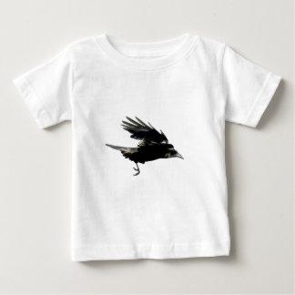 Flying Black Crow Art for Birdlovers Baby T-Shirt