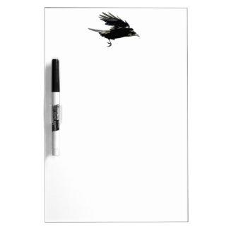 Flying Black Crow Art for Birdlovers Dry Erase Board