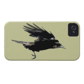 Flying Black Crow Art for Birdlovers iPhone 4 Covers