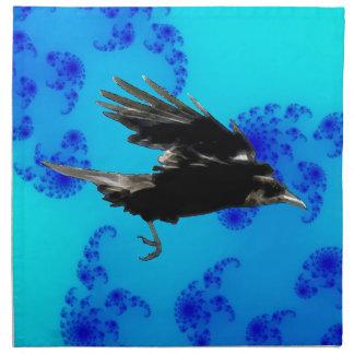 Flying Black Crow Art for Birdlovers Napkin