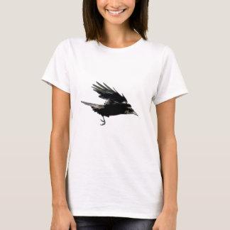 Flying Black Crow Art for Birdlovers T-Shirt