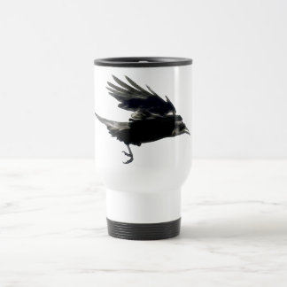 Flying Black Crow Coffee Mug