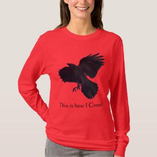 Flying BLACK CROW Fun Ladies Long-Sleeved Shirt