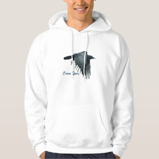 Flying Black Crow Gear Wildlife Art Hoodie 2