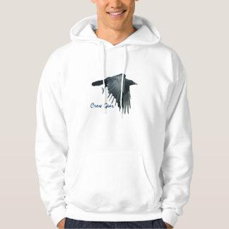 Flying Black Crow Gear Wildlife Art Hoodie 2