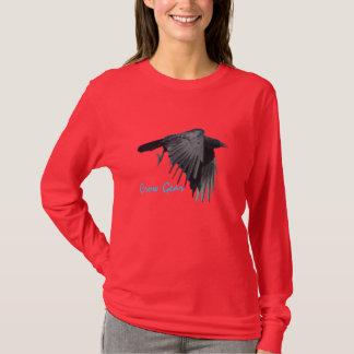 Flying Black Crow Gear Wildlife Art Shirt 2