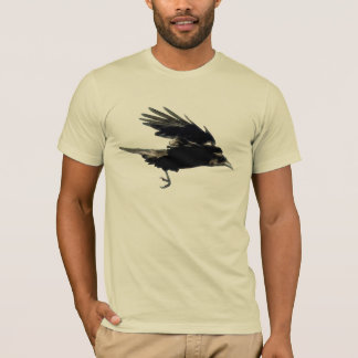 Flying Black CROW (Raven) Art T-Shirt