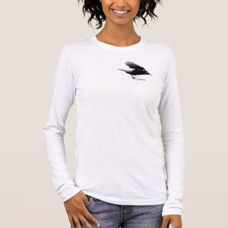 Flying Black CROW Wildlife Art Shirt