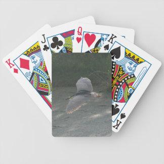 Flying Black-Crowned Night-Heron Bicycle Playing Cards