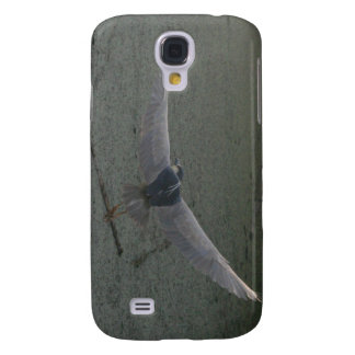 Flying Black-Crowned Night-Heron Galaxy S4 Cover