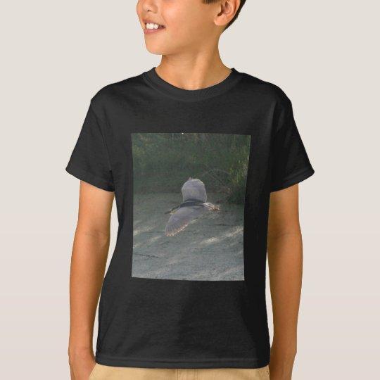 Flying Black-Crowned Night-Heron T-Shirt