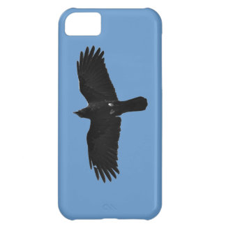 Flying Black Raven Corvid Crow-lover Photo Design Case For iPhone 5C